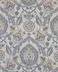 Silver Color Theory True Blue Fabric Maxwell Fabrics Royal Botanic 121 Platinum