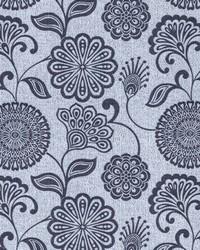 Grey Jacobean Floral Fabric  Twiggy Metal