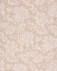 Brown Jacobean Floral Fabric  Giovanni Sand
