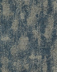 Blue Abstract Fabric  Sonora Navy