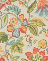 Multi Jacobean Floral Fabric  2206cb Toucan