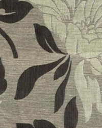 Silver Large Print Floral Fabric  WISHFUL SILVER BLACK