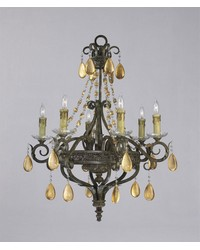 Dorato 6lt. Chandelier by