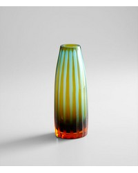 Sm. Cyanornge Strip Vase 01129 by