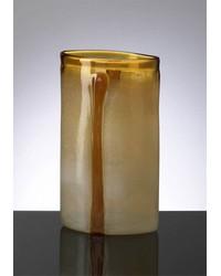 Lg Cream Cognac Vase 02163 by