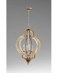 Vertigo Silver Leaf Chandelier by