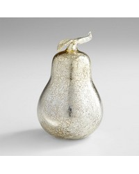Silver Pear Sculpture 06450 by