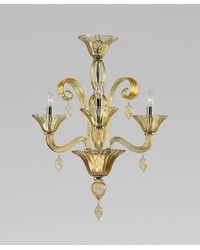 Trviso 3lt Ambr Chandelier by