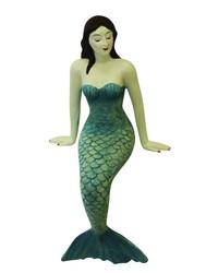 Blue Resin Sitting Mermaid by