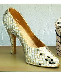 Large Gold Mirror Mosaic Shoe by