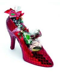 Large Red Mirror Mosaic Shoe by