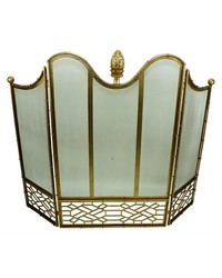 Light Gold Fire Screen W artichoke by