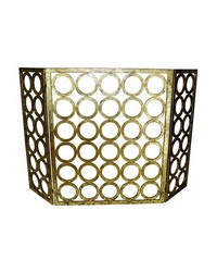 Ital Gold Circle Design Fire Screen by