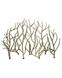 Italian Gold Iron Twig Fire Screen by
