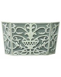 Antique White Urn Design Firescreen by