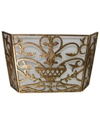 Italian Gold Urn Design Firescreen by