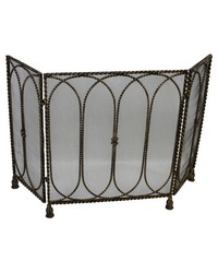 Lt Burn Gold Regal Fire Screen by