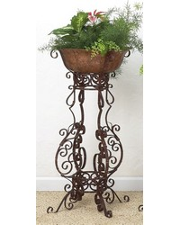 Brown Taupe 4 Leg Large Scroll Planter by