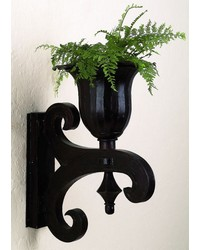 Brown Black Tole Rd Wall Planter brackt by