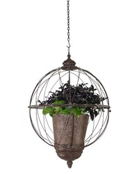 Wire Sphere Hanging Planter by