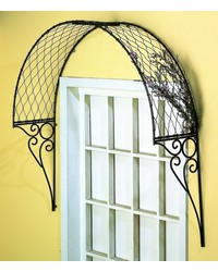 Polished Steel Overdoor Arbor by