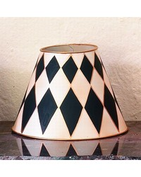 Cream Black Tole Harlequin Lampshade by
