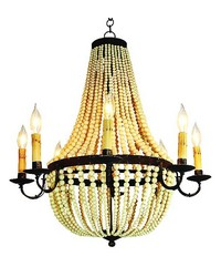 Elec 8 Light Swag Bead Chandelier by