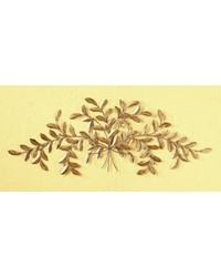 Large Italian Gold Olive Leaf Grill by
