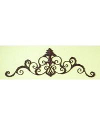 Antique brown Fleur De Lis Horiz. Grill by