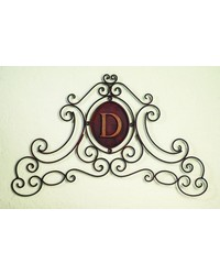 Antique Brown Horztl Monogram Grill by