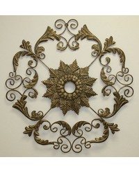 Lt Burn Gold Ceiling Medallion by