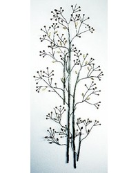 Pewter gold Branch and  Berry Wall Art by