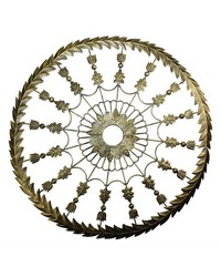 Lt Burn Gold Leaf Ceiling Medallion by