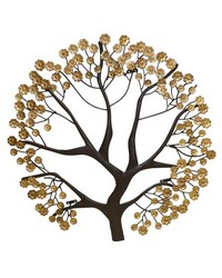 Brown Ital Gold Wall Tree Card Holder by