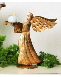 Small Italian Gold Angel Votive Holder by