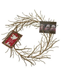 Italian Gold Iron Twig Design Wreath by