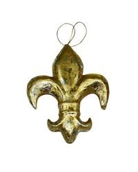 Large Gold Pm Fleur De Lis Ornament by