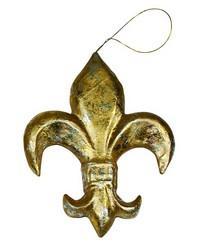 XLarge Gold Pm Fluer De Lis Ornament by