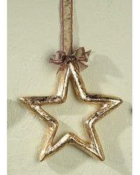 Large Gold Silver Leaf Pm Star Outline by
