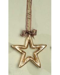 Med Gold Silver Leaf Pm Star Outline by
