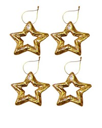 Set of 4 Mn Gold Silver Lf Pm Star Outline by
