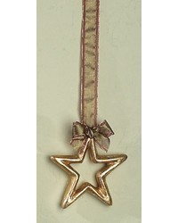Small Gold Silver Leaf Pm Star Outline by