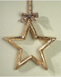 XLarge Gold Silver Leaf Pm Star Outline by