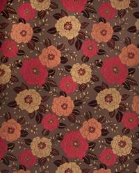 Red Botanical Studio Fabric Fabricut Fabrics Novarra Scarlet Gold