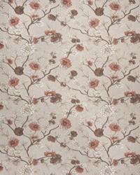 Orange Botanical Studio Fabric Fabricut Fabrics Castellina Coral