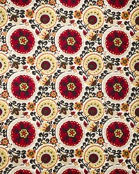 Suzani Fabric  Funky Town Spice