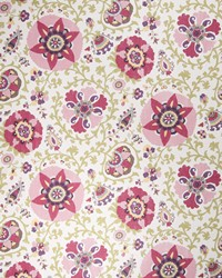Purple Suzani Fabric  Camille Suzani Cherry Blossom