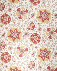 Orange Suzani Fabric  Camille Suzani Curry