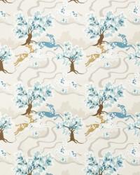 Blue Oriental Fabric  Gambado Aquamarine