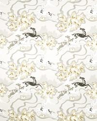 Silver Oriental Fabric  Gambado Shimmer